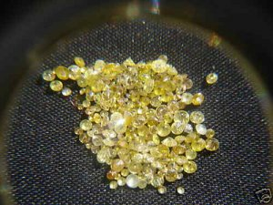 NAT-CANARYYELLOWDIAMOND-1.7MM-1CTW-55PCSLOT,UNTREATED