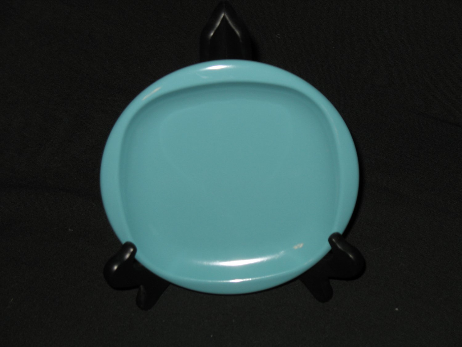 """Boonton Ware 6 1/2"""" Bread  Plate Turquoise"""