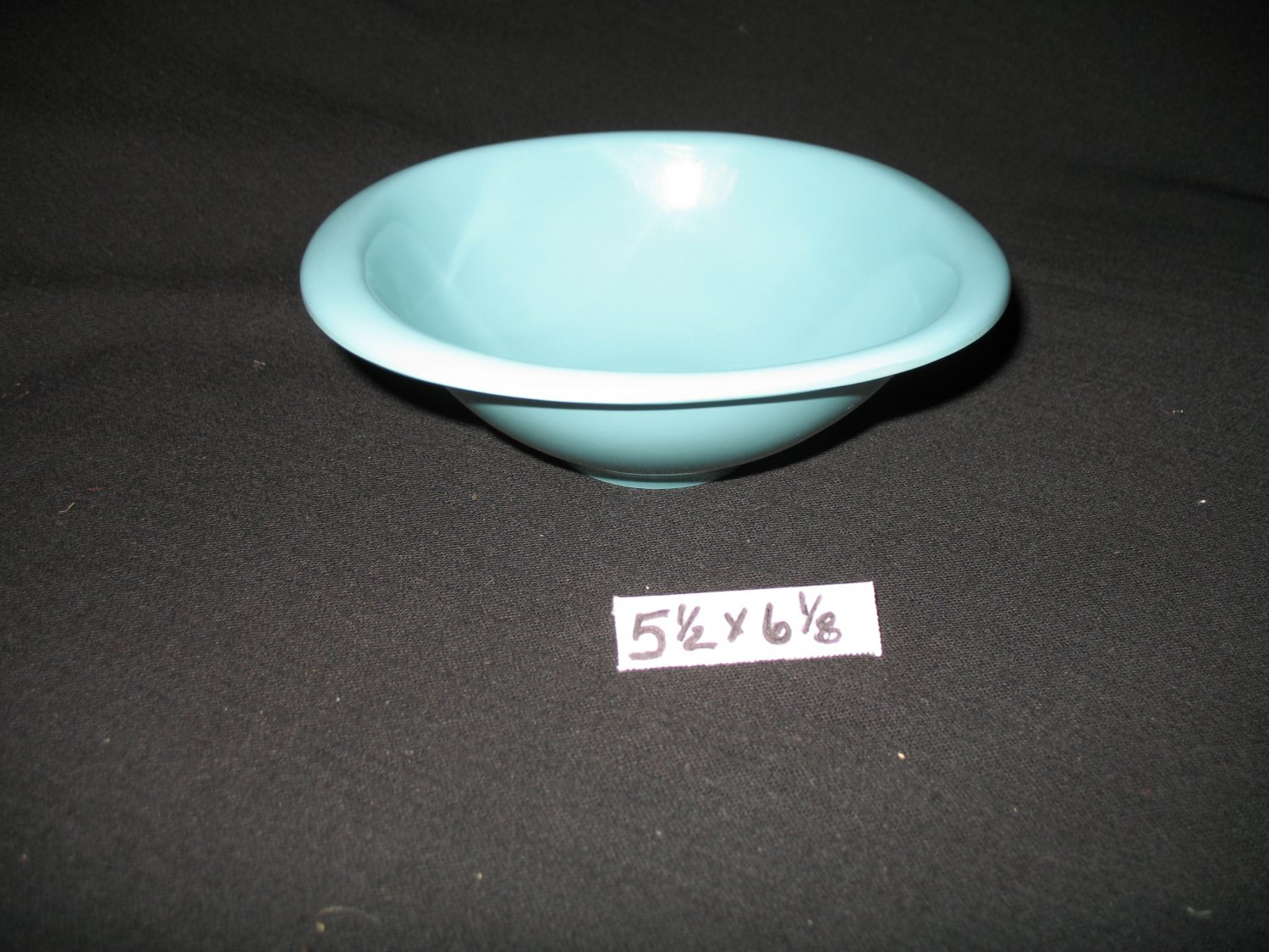 "Boonton Ware 5 1/2"" x 6 1/8""  Bowl Turquoise"