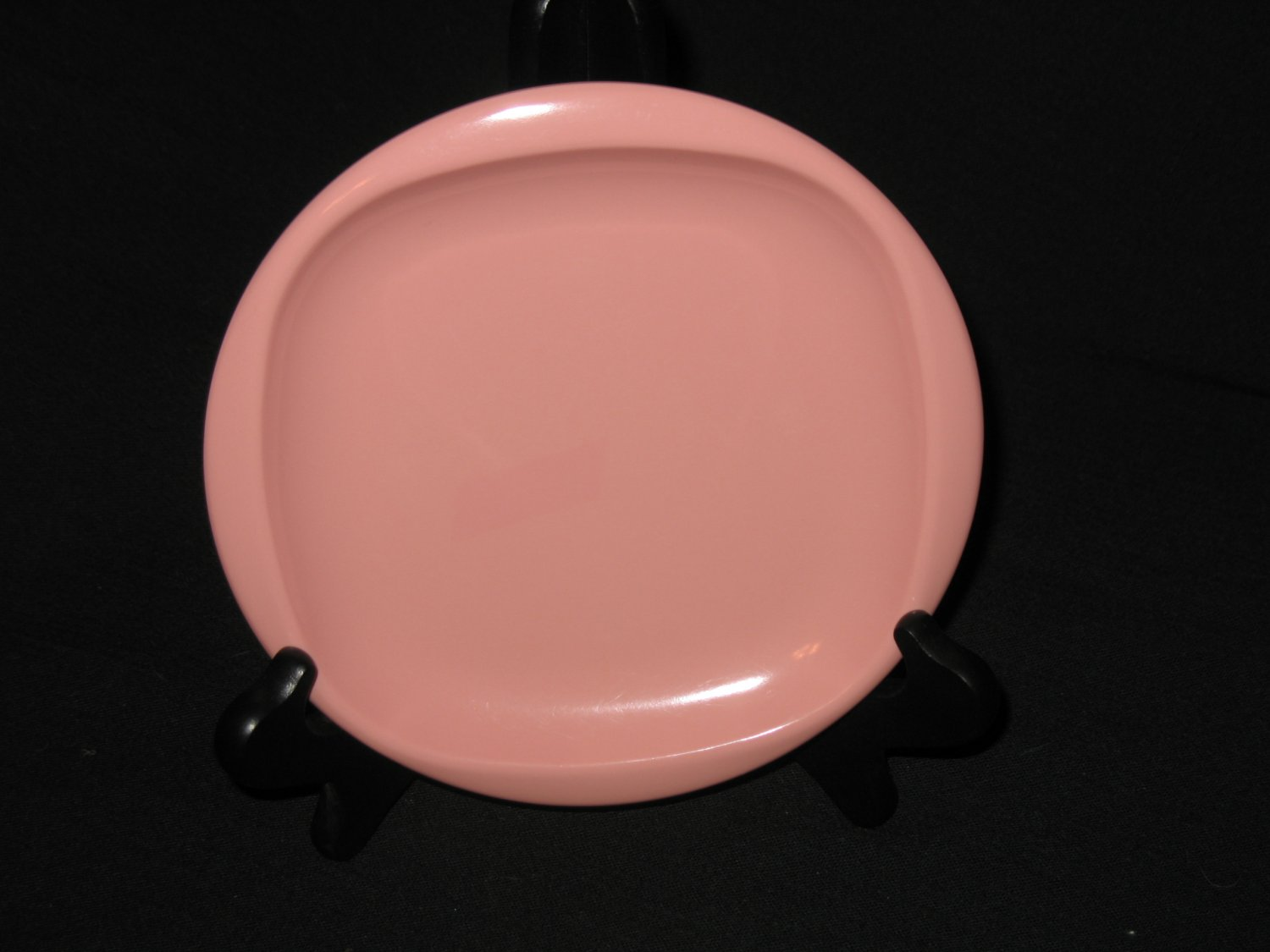 "Boonton Ware 6 1/2"" Bread Plate Pink"