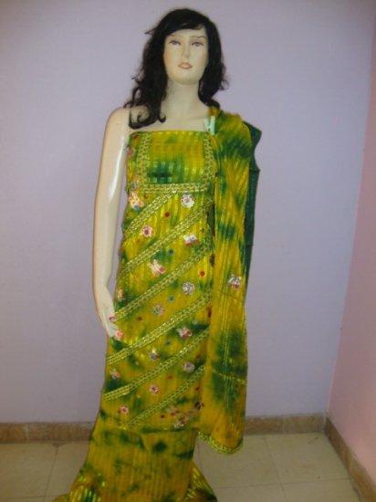 PAKAPPAREL : Unstitched Ubtan Dress Salwar Kameez C10-66-3