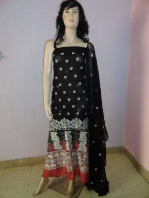 PAKAPPAREL : Pure PK Crinkle Chiffon Salwar Shalwar Kameez- C10-150-3