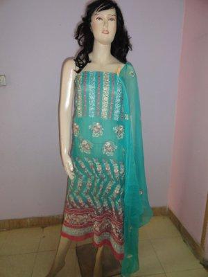 PAKAPPAREL : Pure PK Crinkle Chiffon Salwar Shalwar Kameez- C10-161-5