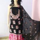 PAKAPPAREL : Pure PK Crinkle Chiffon Salwar Shalwar Kameez- C10-157-6