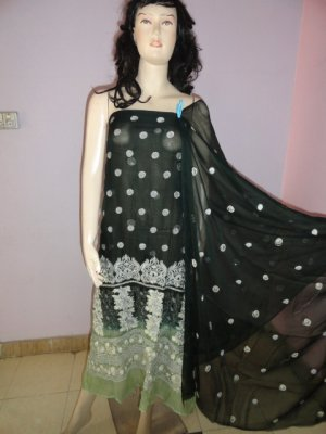 PAKAPPAREL : Pure PK Crinkle Chiffon Salwar Shalwar Kameez- C10-150-5