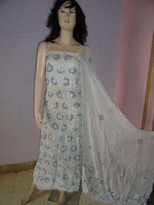 PAKAPPAREL : Hand Made Unstitched Salwar Shalwar Kameez C10-156-3-4
