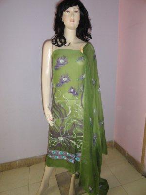 PAKAPPAREL : Pure PK Chiffon Salwar Shalwar Kameez- C10-163-2