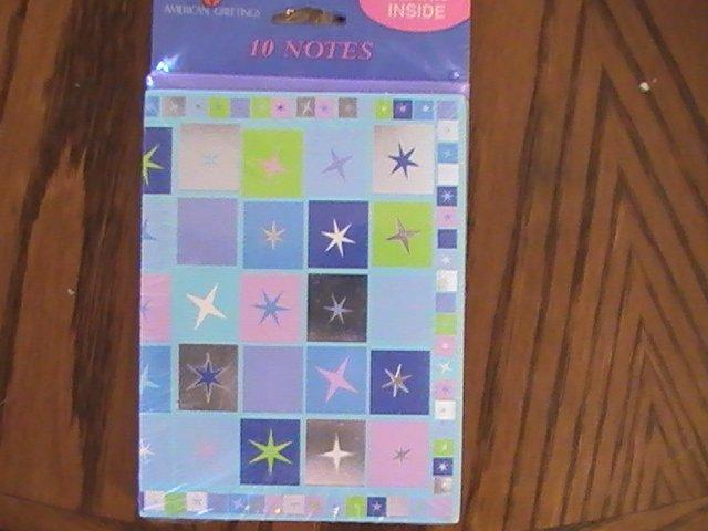 American Greetings Stars Blank Note Cards