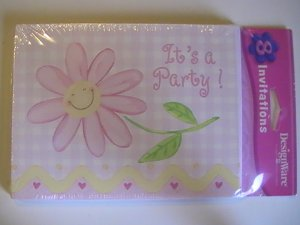 American Greetings Pink Party Invitation Cards