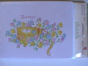 American Greetings Kitty Thanks!  Note Cards