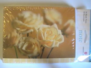 American Greetings Yellow Rose Blank Note Cards