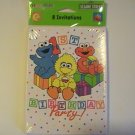 Sesame Street Babies 1st Birthday Party Invitation Cards