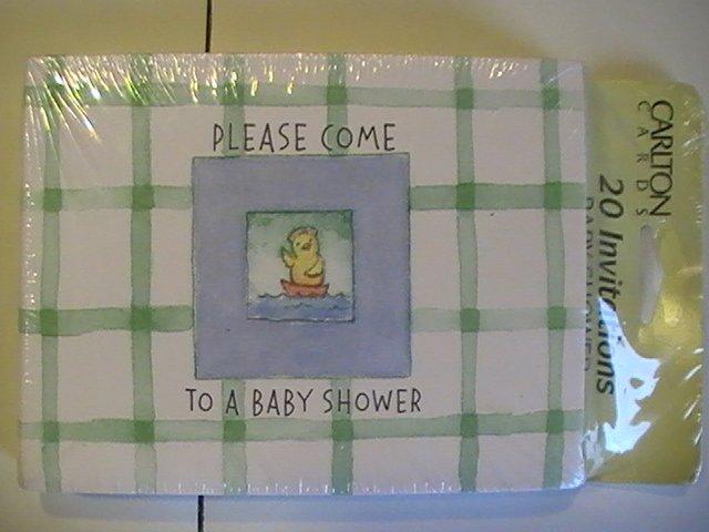 Carlton Cards Cute Baby Shower Invitation Cards