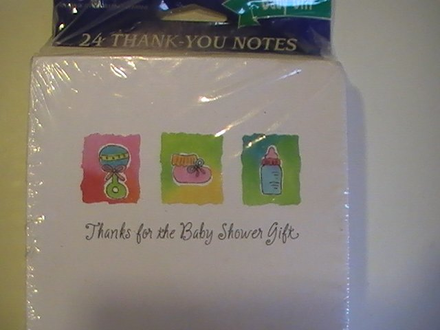 Amer. Greetings Cute Thank You For Baby Gift Note Cards