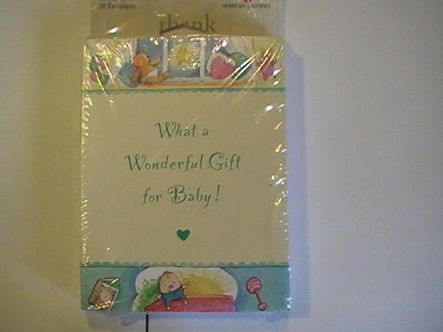 American Greetings Thank You For Baby Gift Note Cards