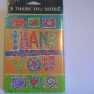 Gibson Cards Colorfully Cute Thank You Note Cards
