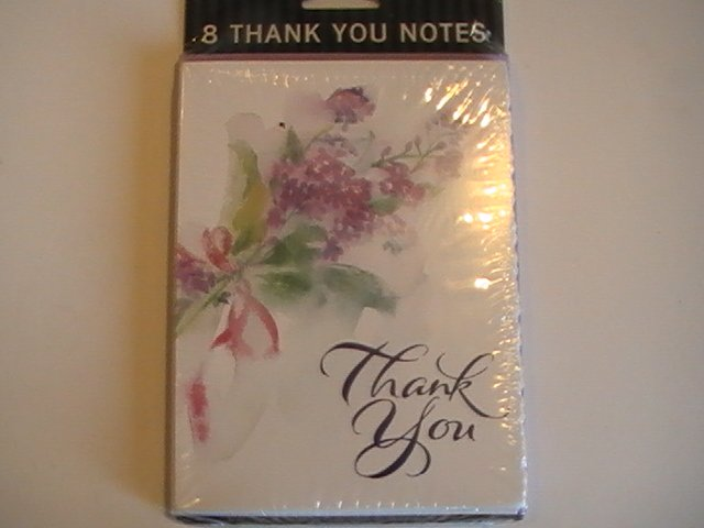 Gibson Cards Scalloped Thank You Note Cards