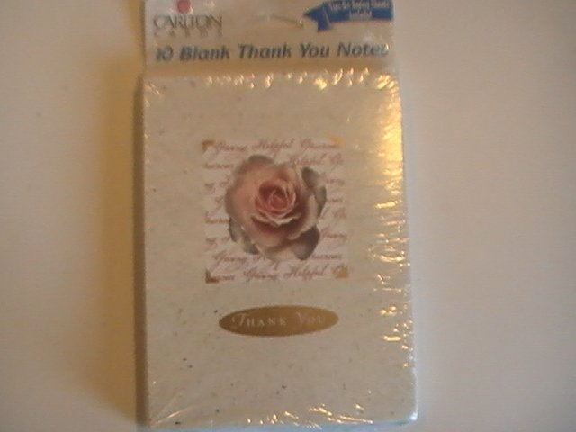 Carlton Cards Rose Thank You Note Cards