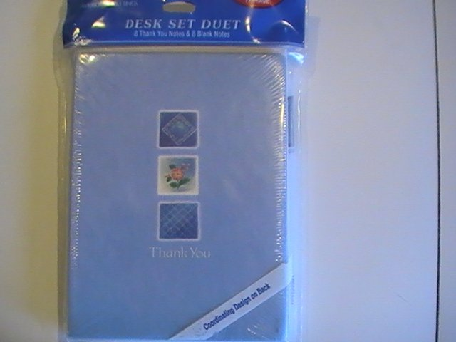 Amer.Greetings Desk Duet Set Thank You/Blank Note Cards