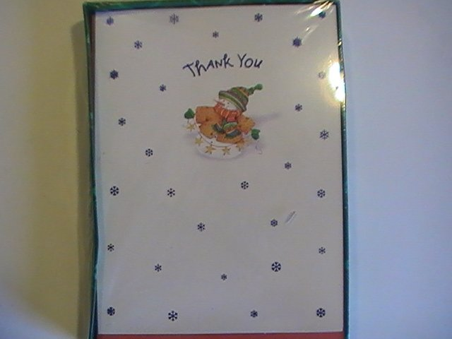 American Greetings Snowman Thank You Note Cards