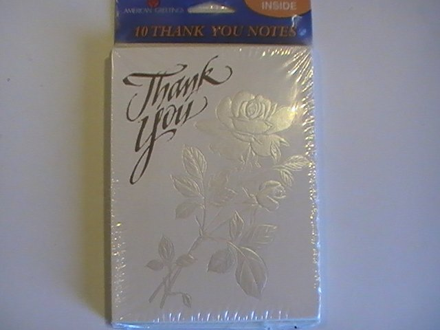 American Greetings Textured Rose Thank You Note Cards