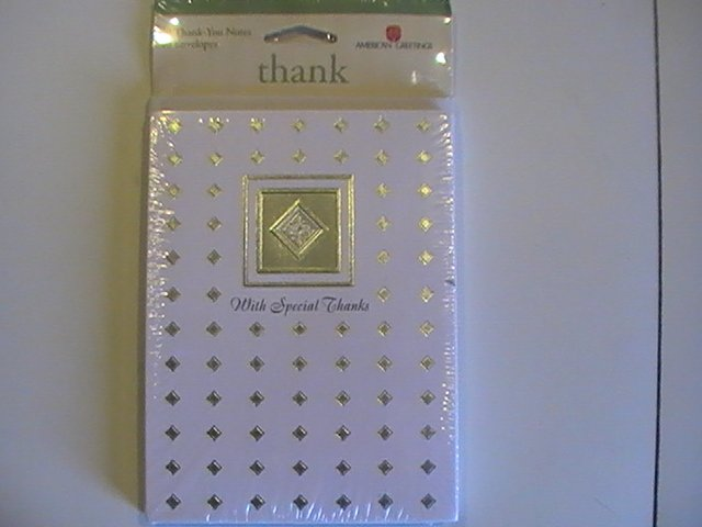 Amer.Greetings With Special Thanks Thank You Note Cards