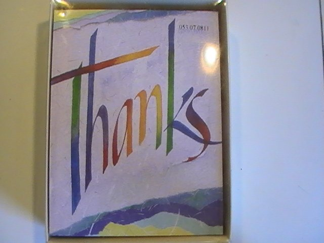 Carlton Cards Colorful Thanks Thank You Note Cards
