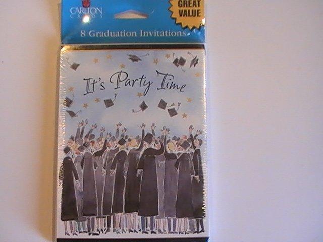 It's Party Time Graduation Celebration Invitation Cards