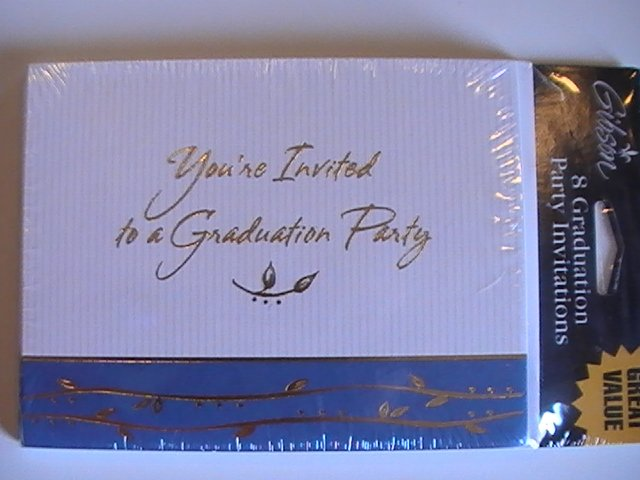 Gibson Cards Graduation Party Invitation Note Cards