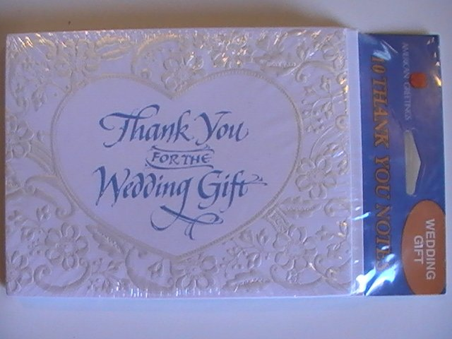 Amer. Greetings Thank You for Wedding Gift Note Cards