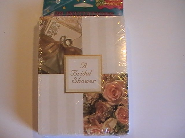 Amer. Greetings A Bridal Shower! Invitation Note Cards