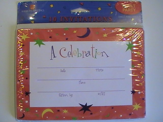 American Greetings A Celebration! Invitation Cards