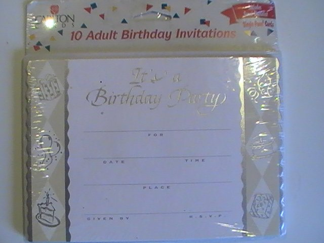 Carlton Cards It's a Birthday Party Invitations