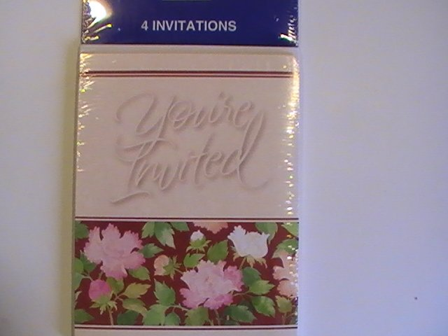 Tender Thoughts You're Invited Party Invitation Cards