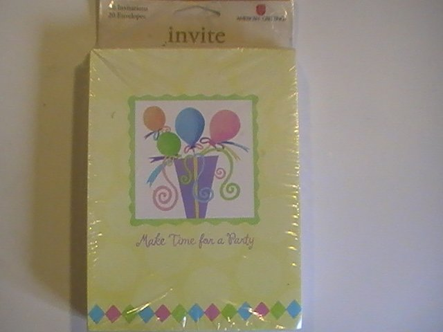 Amer.Greetings Make Time For A Party Invitation Cards