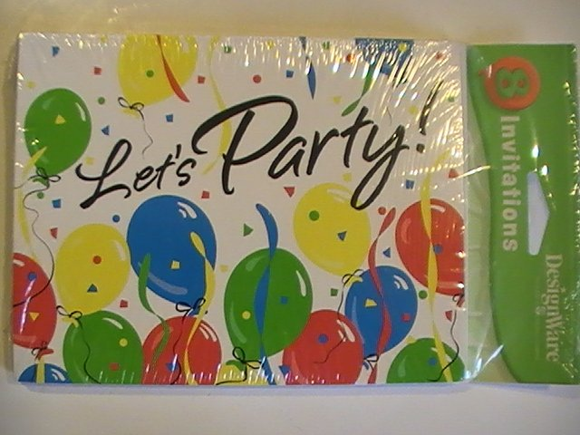 American Greetings Let's Party! Invitation Cards