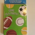 TenderThoughts Sports Come To A Party! Invitation Cards