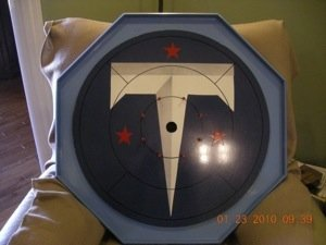 "Specialty Custom Made ""T"" Crokinole Family Game Board SALE"