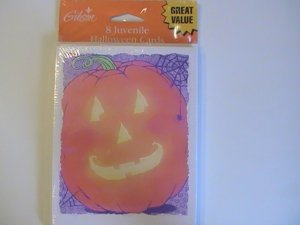 Gibson Halloween Pumpkin Greetings Cards