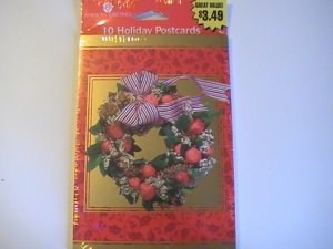 American Greetings Holiday Wreath Postcards