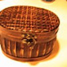 New Elegant Weaved Top Trinket Box w/ Lobster Clasp