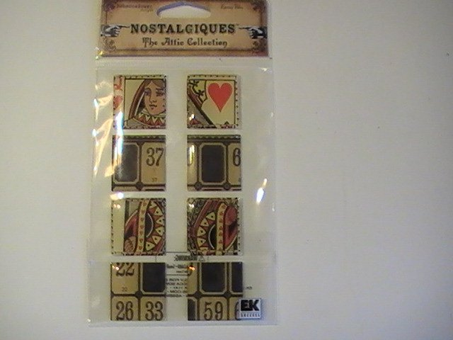 Nostalgiques Queen Of Hearts Craft Scrapbook Stickers