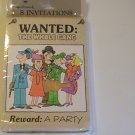 Hallmark WANTED: The Whole Gang Party Invitation Cards