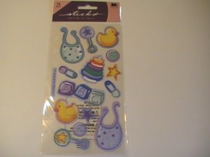 Sticko Vellum New Baby Boy Craft Scrapbook Stickers