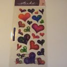 Sticko Sparkle Glitter Hearts Craft Scrapbook Stickers