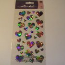 Sticko Metallic Pastel Hearts Craft Scrapbook Stickers