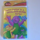Barney Birthday Party Invitation Cards