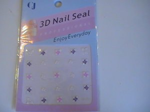 CJ 3D Design Fingernail Decoration Nail Seal Sticker