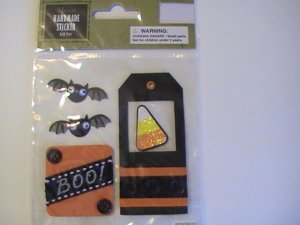 Halloween Harvest Handmade Scrapbook STickers