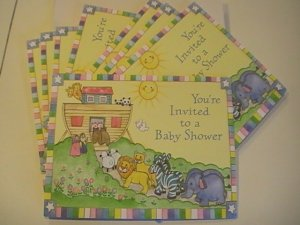 Carlton Baby Shower Noahs Ark Invitation Cards